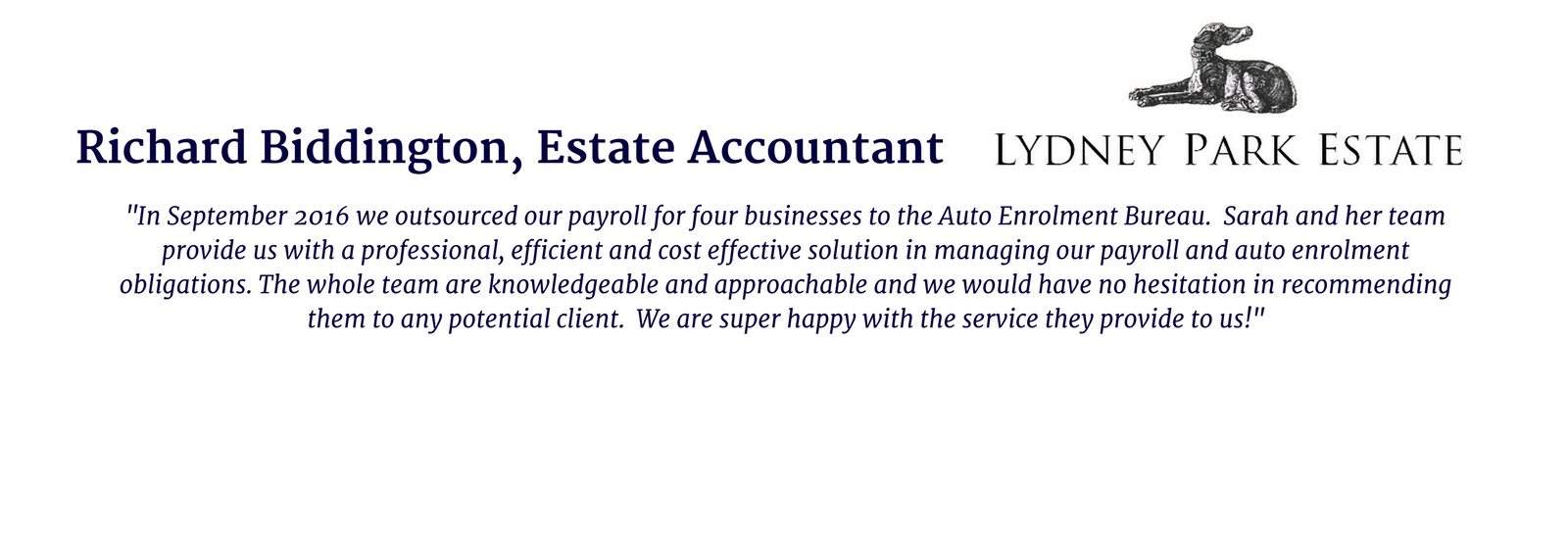 Richard Biddington, Estate Accountant, Lydney Park Estate