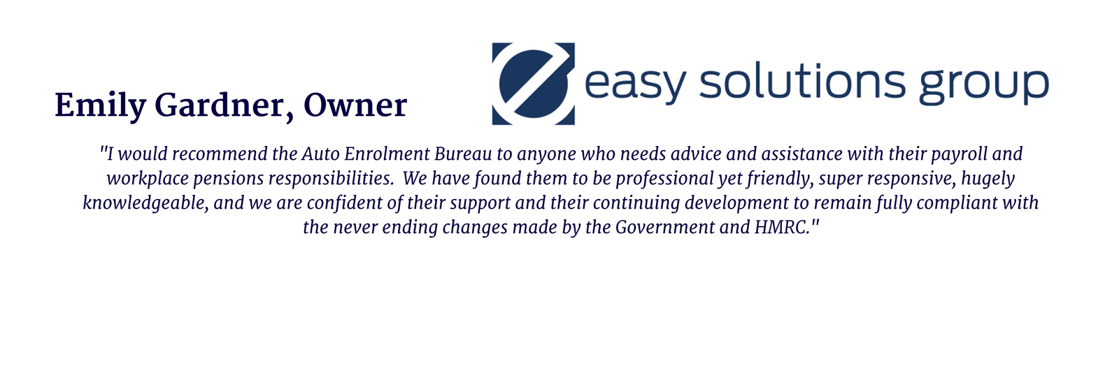 Emily Gardner, Owner, Easy Solutions Group